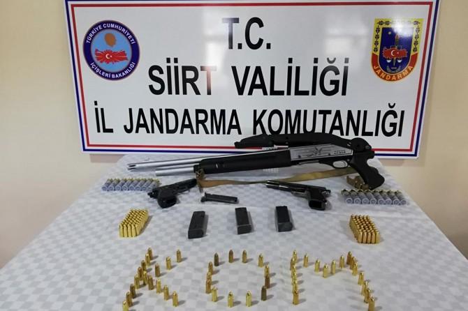 Siirt Kurtalan'da silah ve mühimmat ele geçirildi
