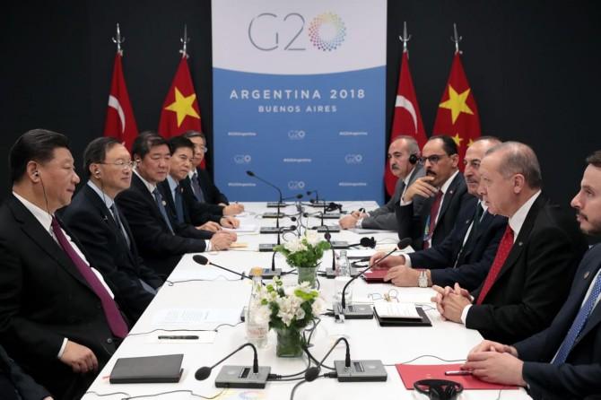 Cumhurbaşkanı Erdoğan'dan Arjantin'de temaslar