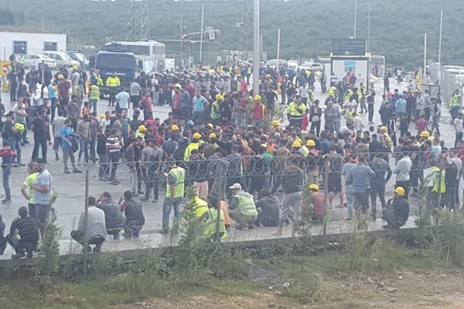 31 işçi tahliye edildi