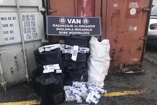 20 bin paket sigara ele geçirildi