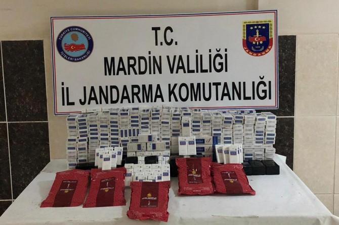 Kızıltepe- Nusaybin Karayolu'nda gümrük kaçağı sigara ele geçirildi