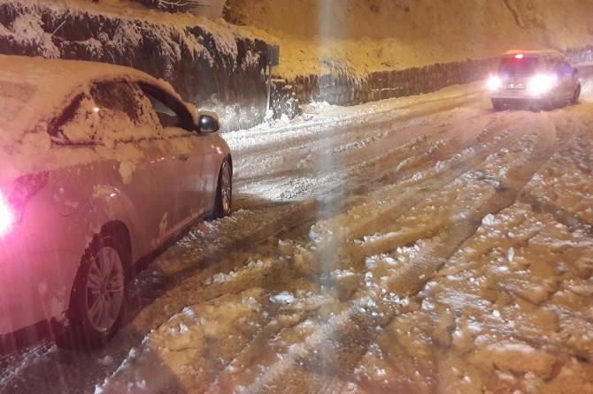 Bitlis'te ulaşıma kar ve sis engeli