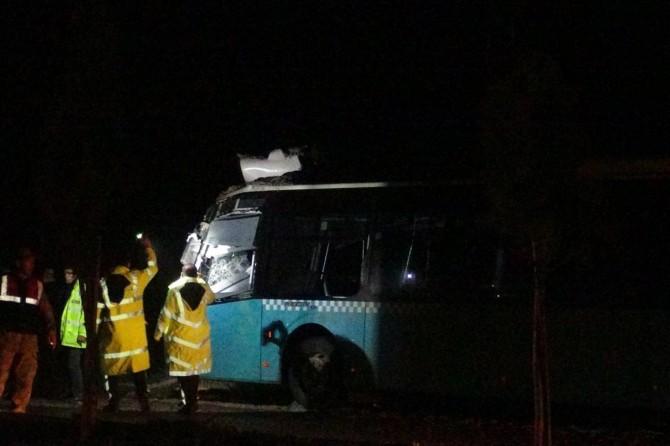 Çınar'da kazaya neden olan otobüs şoförü tutuklandı
