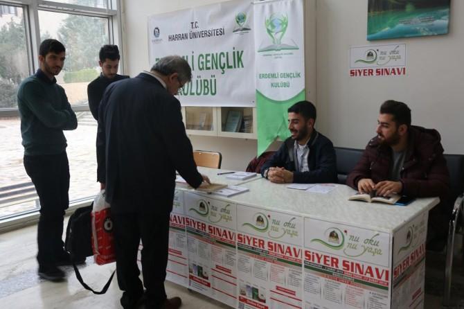 Harran Üniversitesinde Siyer Sınavı için stant açıldı