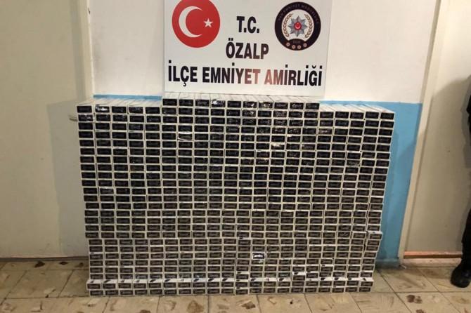 Van Özalp ve Muradiye'de 16 bin 390 paket gümrük kaçağı sigara ele geçirildi