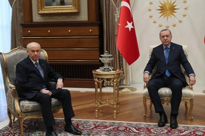 Erdoğan ve Bahçeli görüştü