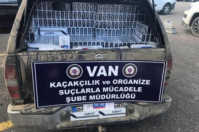 Van'da 18 bin 250 paket gümrük kaçağı sigara ele geçirildi