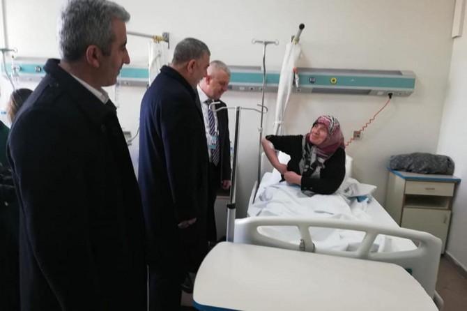 HÜDA PAR Ankara İl Başkanlığından tren kazasında yaralananlara ziyaret