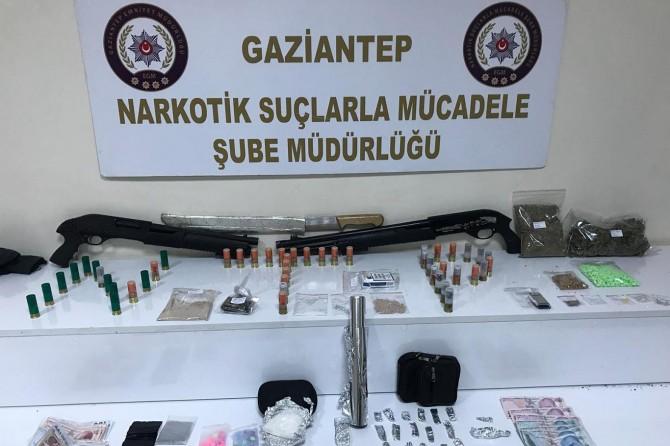 Gaziantep'te uyuşturucu operasyonuna 3 tutuklama