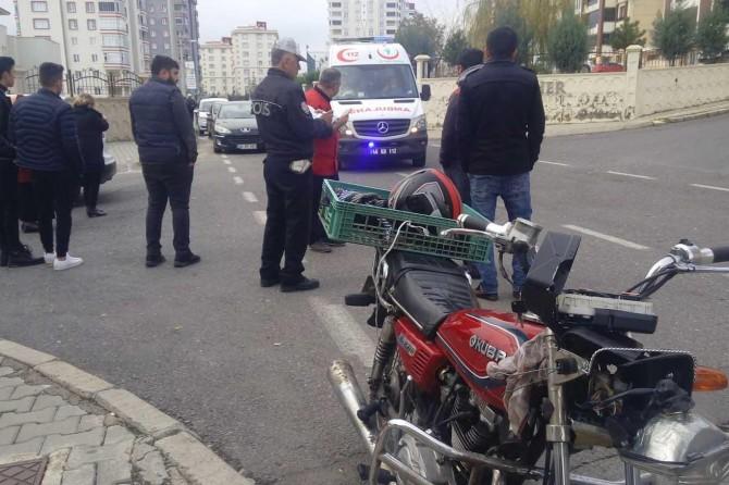 Kahramanmaraş'ta motosiklet otomobil ile çarpıştı: 1 yaralı