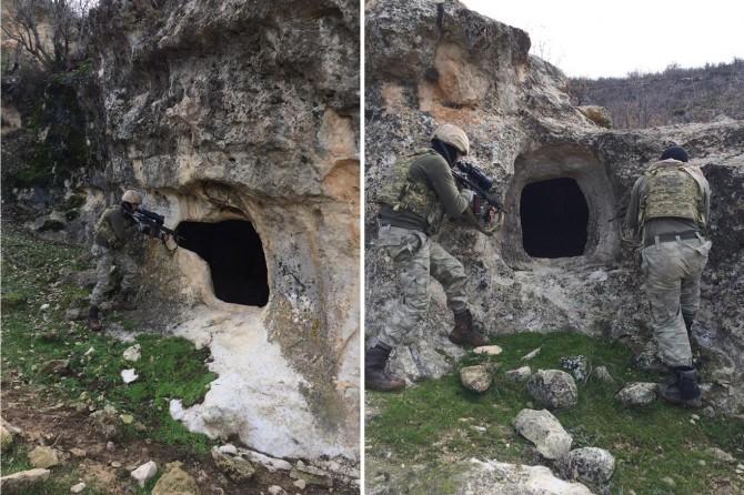 Diyarbakır'daki PKK operasyonunda 10 sığınak ve mağara imha edildi