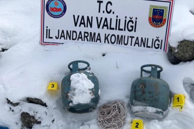 Van Çaldıran'da patlayıcı yapımında kullanılacak 2 adet tüp ele geçirildi