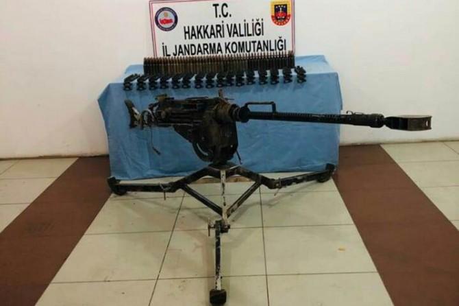 Yüksekova'da PKK'ye ait Doçka silah ve mühimmat ele geçirildi
