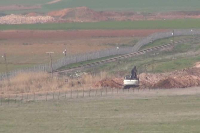 Ceylanpınar sınırında hendek kazılıyor