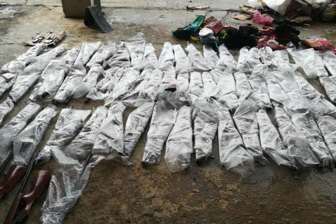 Hakkâri'de 64 kaçak av tüfeği ele geçirildi