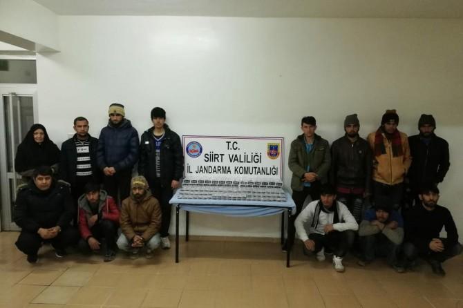 Siirt Baykan'da 14 kaçak göçmen yakalandı