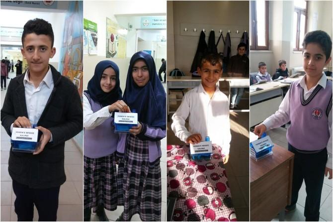 Çınar İmam Hatip Ortaokulu öğrencileri Yemen için yardım topladı