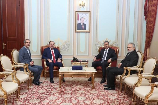 HÜDA PAR İstanbul İl Başkanından Vali Yerlikaya'ya ziyaret
