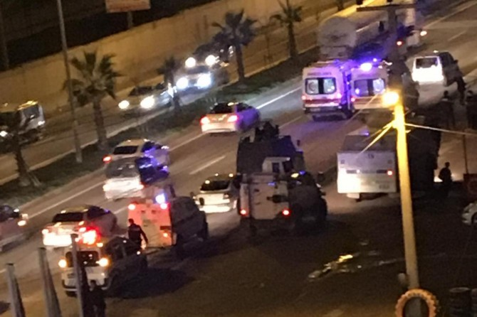 Mardin Kızıltepe'de polis zırhlı aracı devrildi: 5 yaralı