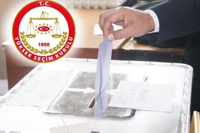 Seçime girebilecek partiler açıklandı