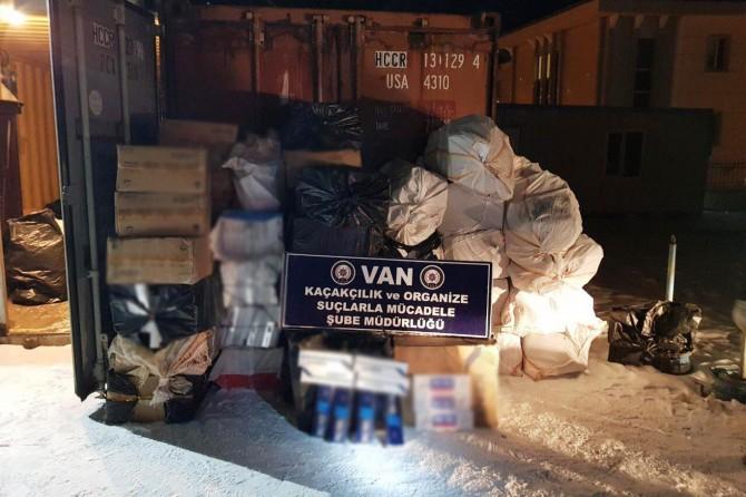 Van'da 29 bin 500 paket kaçak sigara ele geçirildi
