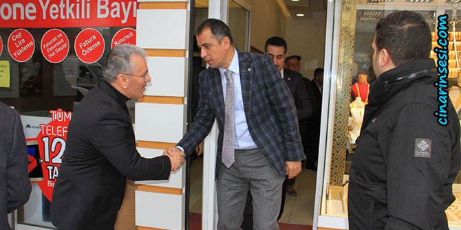 Bismil Kaymakamı Kerem Süleyman Yüksel'den esnaf ziyareti