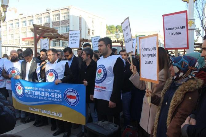 Silopi'de öğretmen ve halkın sorunlarına ilişkin basın açıklaması