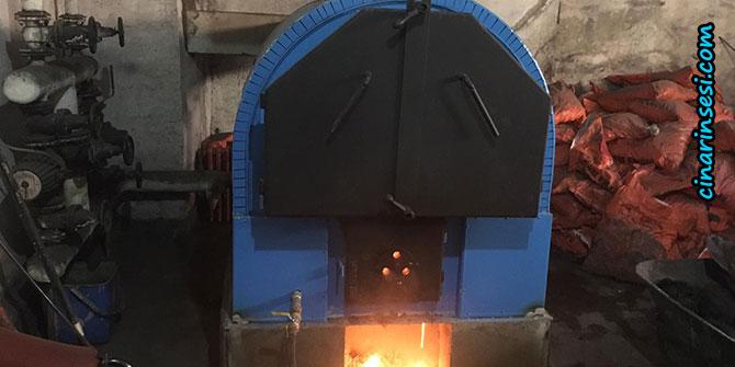Bismil Belediyesi Tepe Şehit Muhammed Said Çelik İlkokulunun kalorifer kazanını değiştirdi