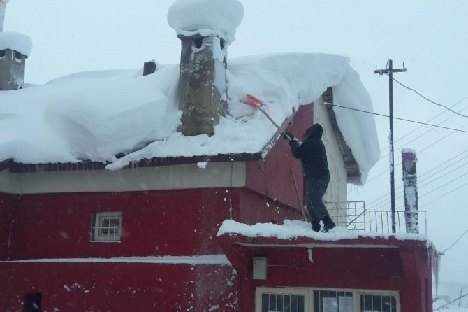 Bitlis'te kar ve fırtına nedeniyle hayat durdu