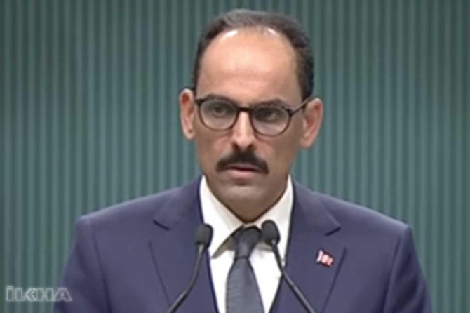 Kalın holds a press conference following his meeting with Bolton