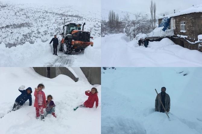 Kozluk'un köyleri beyaz örtüye büründü