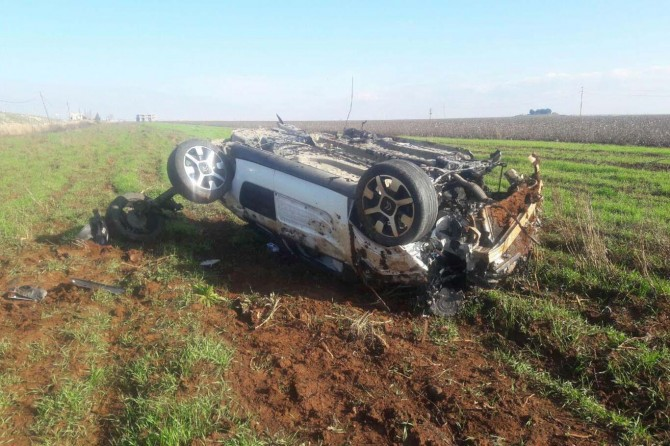 Siverek'te otomobil takla attı: 1 yaralı