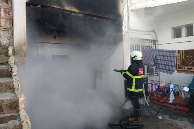 Ceylanpınar'da bir evde çıkan yangın ucuz atlatıldı