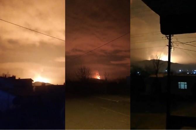 Sakarya Arifiye'de doğalgaz hattında patlama