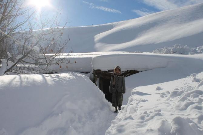 Muş'ta yoğun kar kırsal hayatı olumsuz etkiliyor