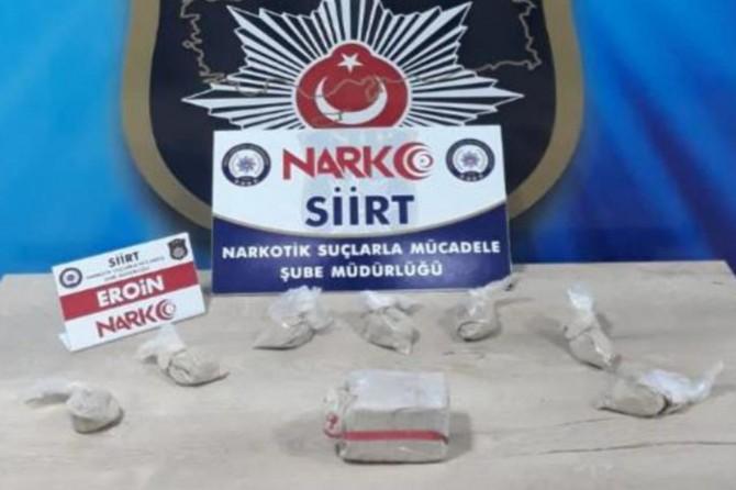 Baykan'da uyuşturucuyla yakalanan zanlı tutuklandı