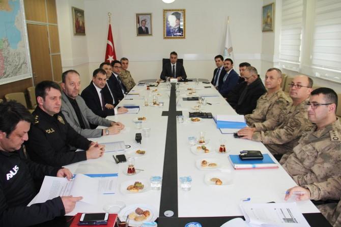 Bitlis'te seçim güvenliği toplantısı yapıldı