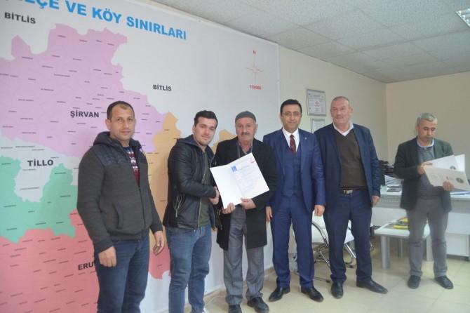 Siirt'te üreticilere organik tarım sertifikası verildi