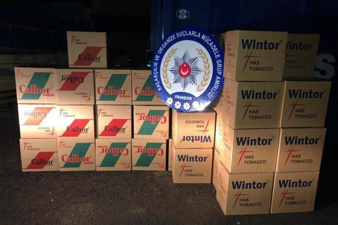 Viranşehir'de 13 bin 800 paket kaçak sigara ele geçirildi