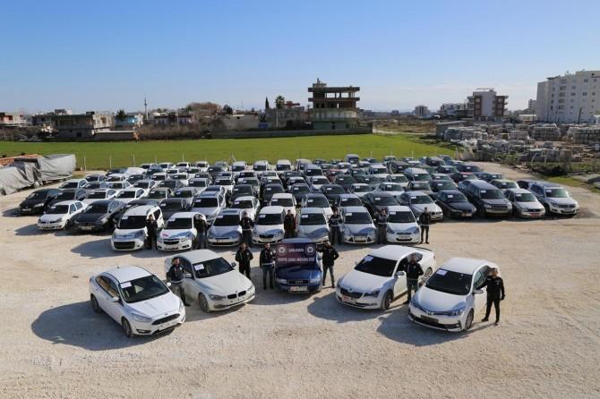 Şanlıurfa'da 120 adet çalıntı araç ele geçirildi