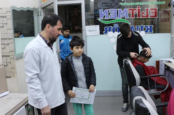 Kızıltepe'de takdir veya teşekkür belgesini getirene bedava tıraş