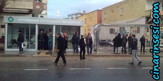 Diyarbakır'da klimalı durak çalışmaları devam ediyor