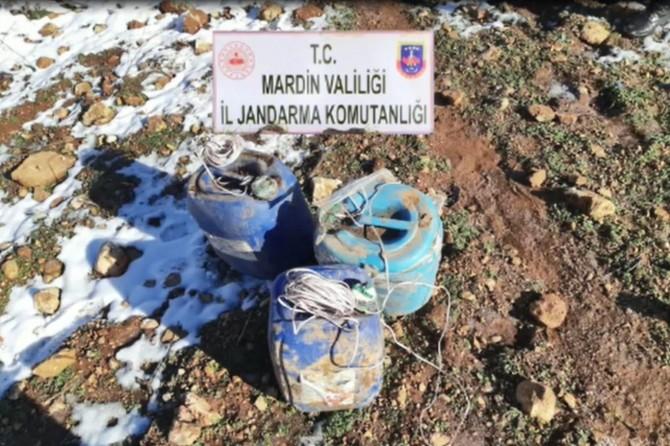 Ömerli'de 150 kilo patlayıcı ele geçirildi