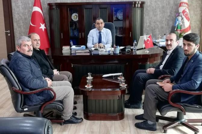 HÜDA PAR Silvan Başkanlığı ilçenin sorunlarını Kaymakam Çelik'e iletti
