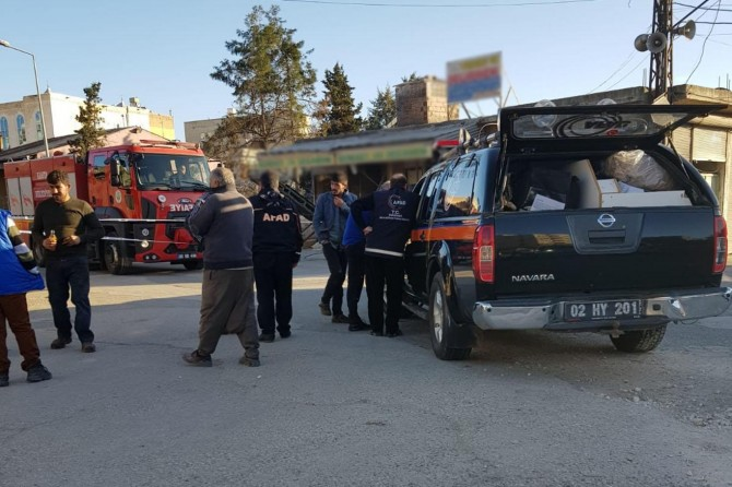 Kâhta'da bidondan sızan gaz mahalleliyi tedirgin etti
