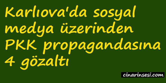 Karlıova'da sosyal medya üzerinden PKK propagandasına 4 gözaltı