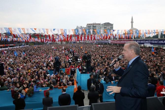 Cumhurbaşkanı Erdoğan partisinin Aydın mitinginde konuştu