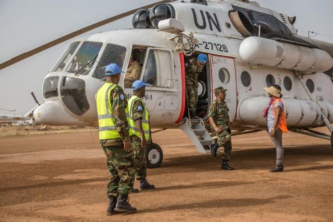 Sudan'da BM'ye ait askeri helikopter düştü: 3 ölü
