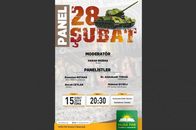 28 Şubat darbesi panel ile anlatılacak