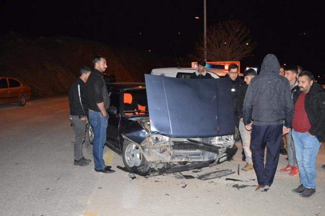 Palu'da trafik kazası